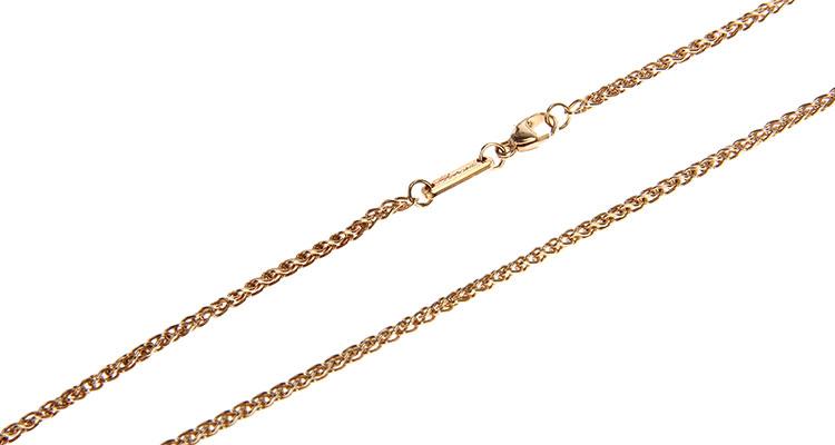 chopard(萧邦)18k心形镶钻挂坠黄金项链