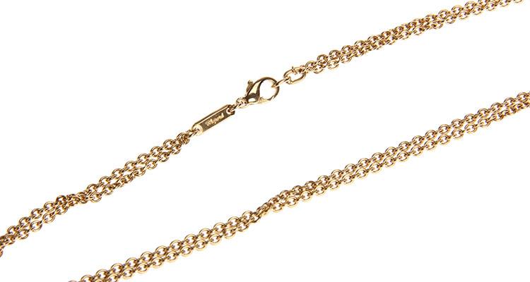 chopard(萧邦)18k黄金love字形镶钻项链