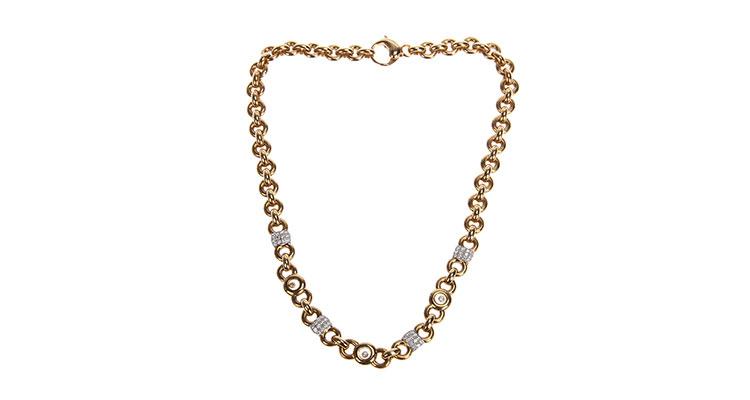 chopard(萧邦)18k黄金项链