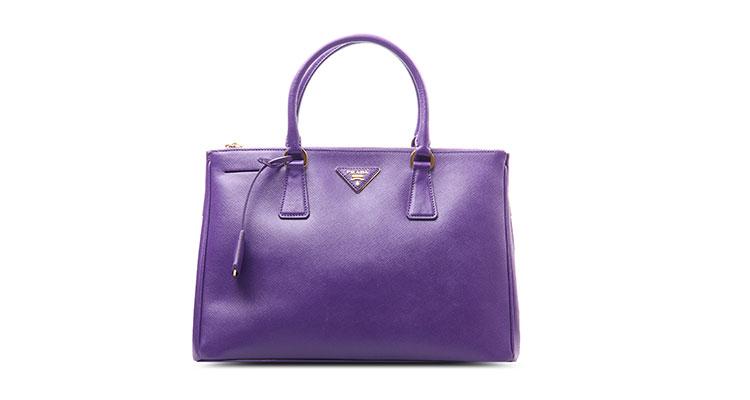 prada(普拉达) 紫色皮质手提两用包