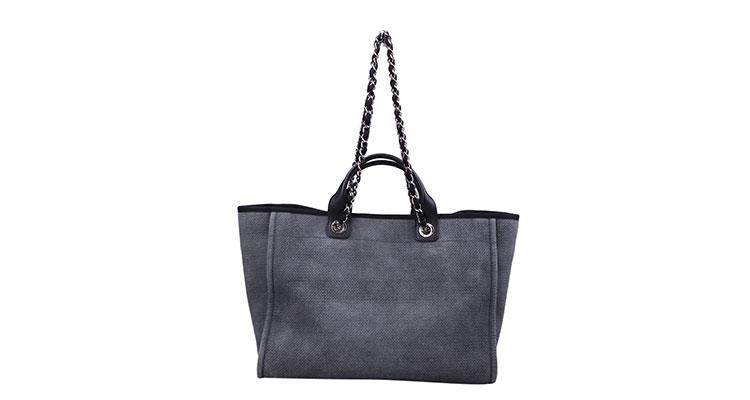 chanel(香奈儿) 灰色帆布两用包