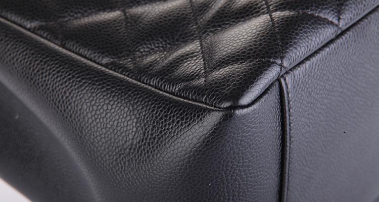 chanel(香奈儿) 黑色荔枝皮gst单肩包